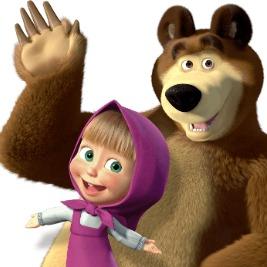 Now it's time for Masha and the Bear